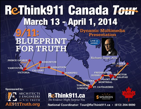 Mar. 23rd | Architects & Engineers for 911 Truth's Richard Gage to present in London!