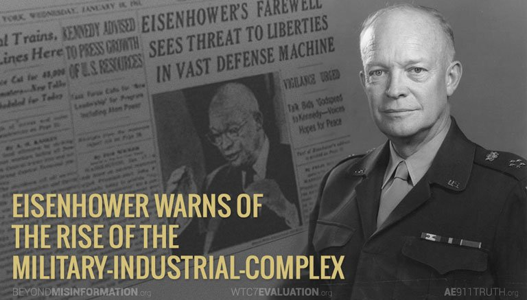 eisenhower warns MIC 768