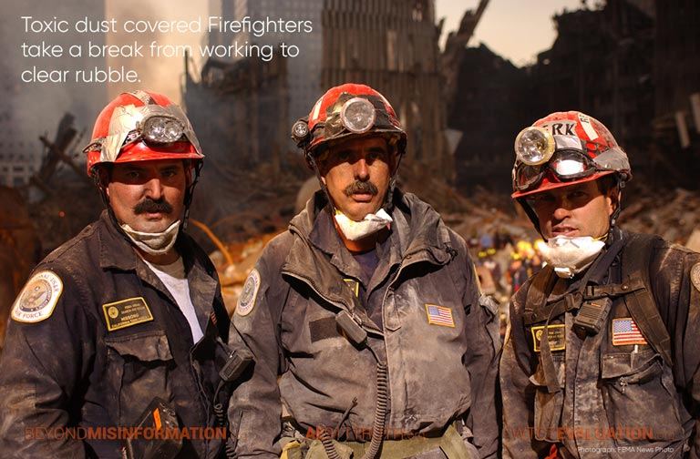 toxic dust covered firefighters 768