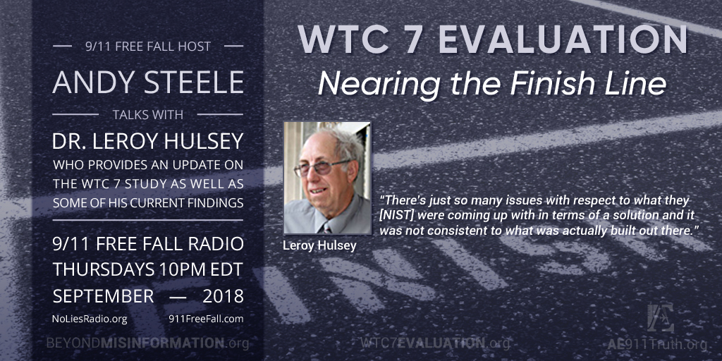 9/11 Free Fall Host Andy Steele with Dr. Leroy Hulsey