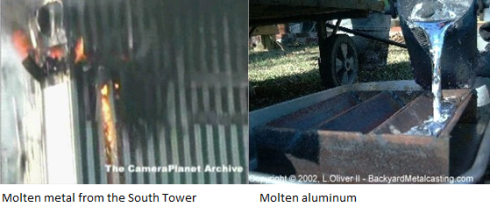 Molten metal from the South Tower