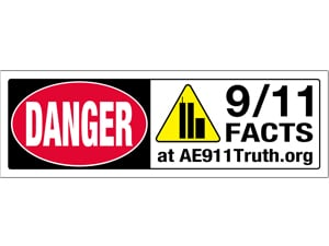 Danger Sign-Bumper Sticker, 9/11 Facts