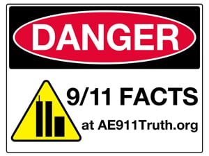 Danger Sign-Wall, 9/11 Facts (8.5 x 11)